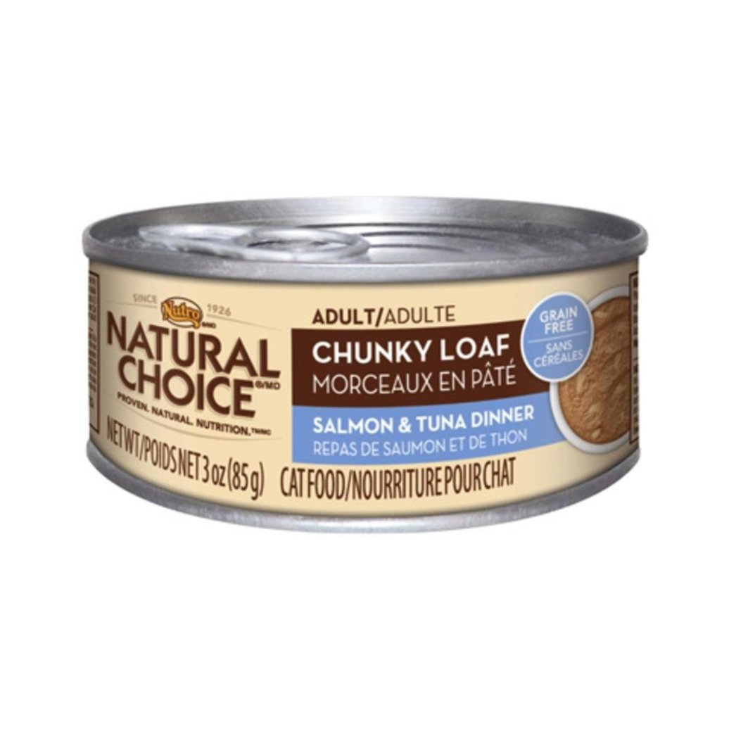 View larger image of Natural Choice Grain Free Adult Cat Can, Chunky Loaf Salmon & Tuna - 3 oz
