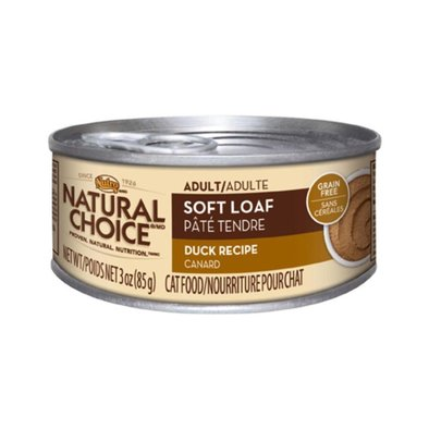 Natural Choice Grain Free Adult Cat Can, Soft Loaf Duck - 3 oz