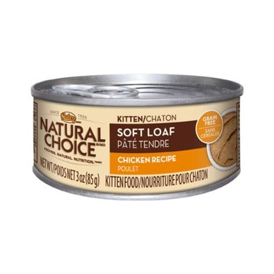 Natural Choice Grain Free Kitten Cat Can, Soft Loaf Chicken - 3 oz