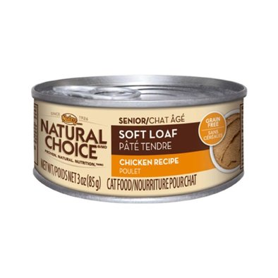 Natural Choice Grain Free Senior Cat Can, Soft Loaf Chicken - 3 oz