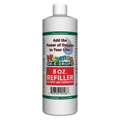 Ox-E-Drops, Refill with Dropper Bottle - 8 oz