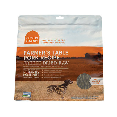 Farmer's Table Pork Freeze Dried Raw Dog Food