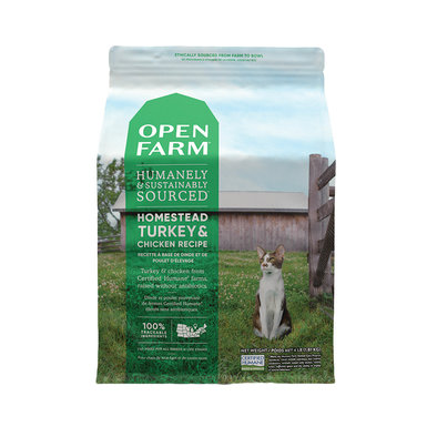 Homestead Turkey & Chicken Adult Cat Dry Food
