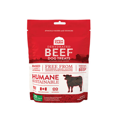Dehydrated Beef Dog Treats - 128 g