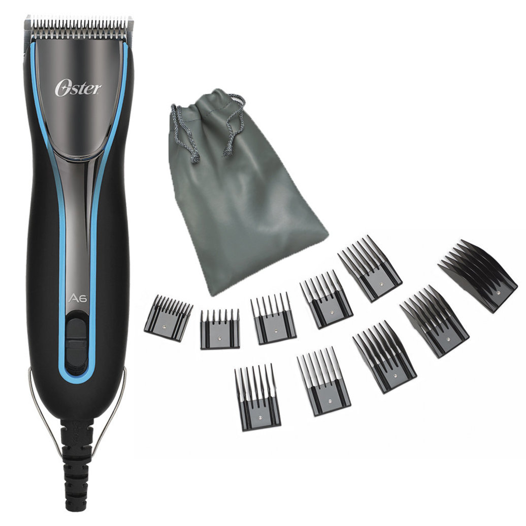 View larger image of A6 Slim Clipper with 10 Pk Comb & Stainless Steel Guard