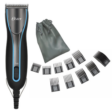 A6 Slim Clipper with 10 Pk Comb & Stainless Steel Guard