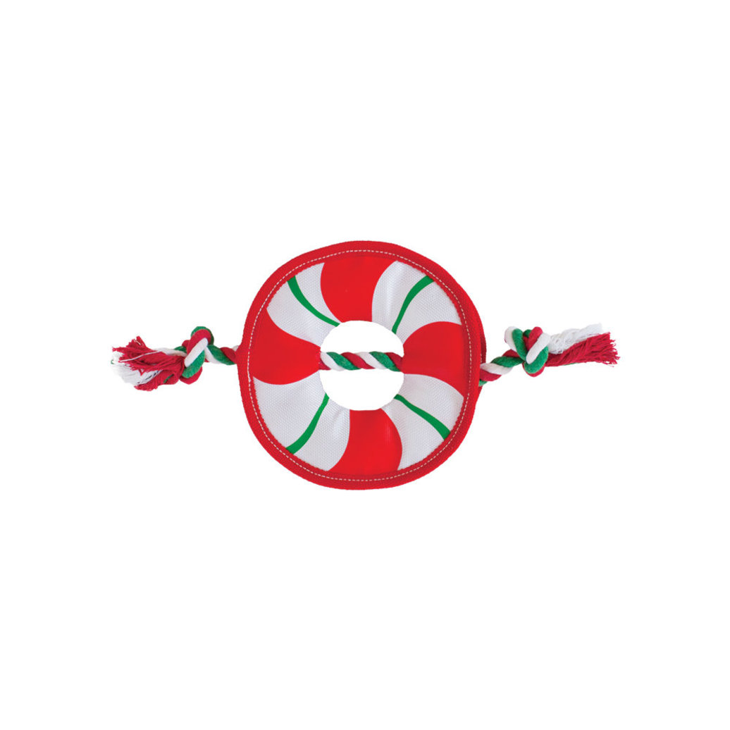 View larger image of Fire Biterz Rope Wreath - Red, White & Green