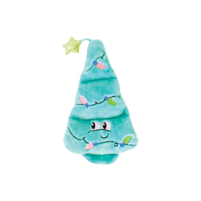 Squeaker Matz Holiday Tree - Blue