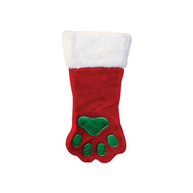 Stocking Paw - Red & White - Large
