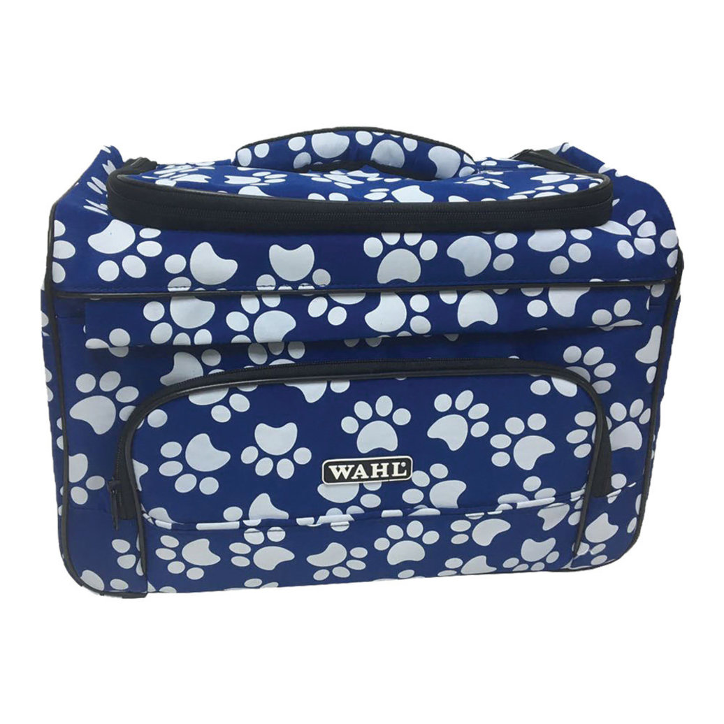 View larger image of Paw Print Travel Bag - Navy & White