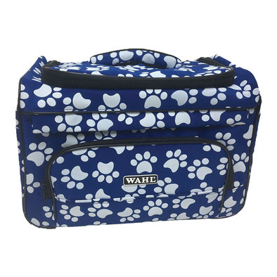 Paw Print Travel Bag - Navy & White