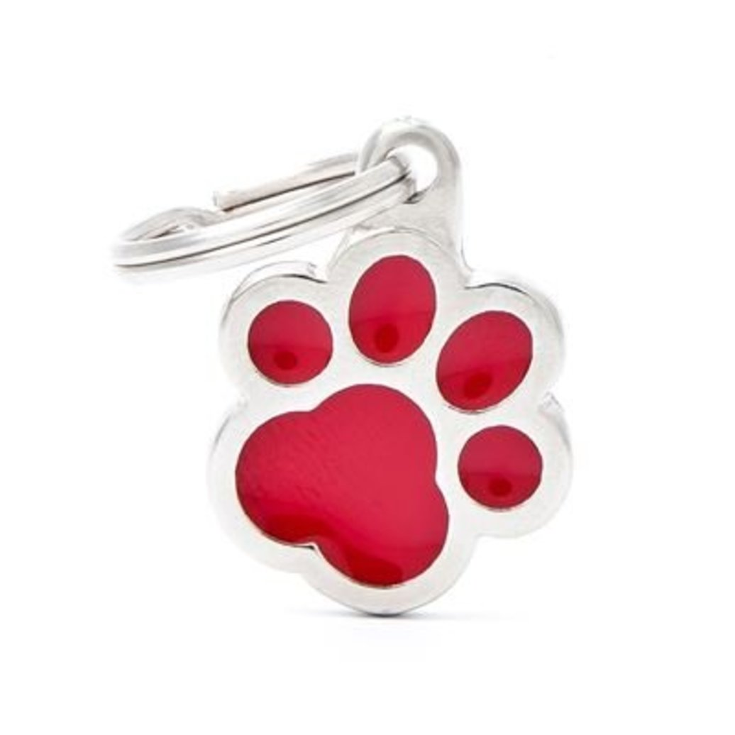 View larger image of Pawprint - Red - Big