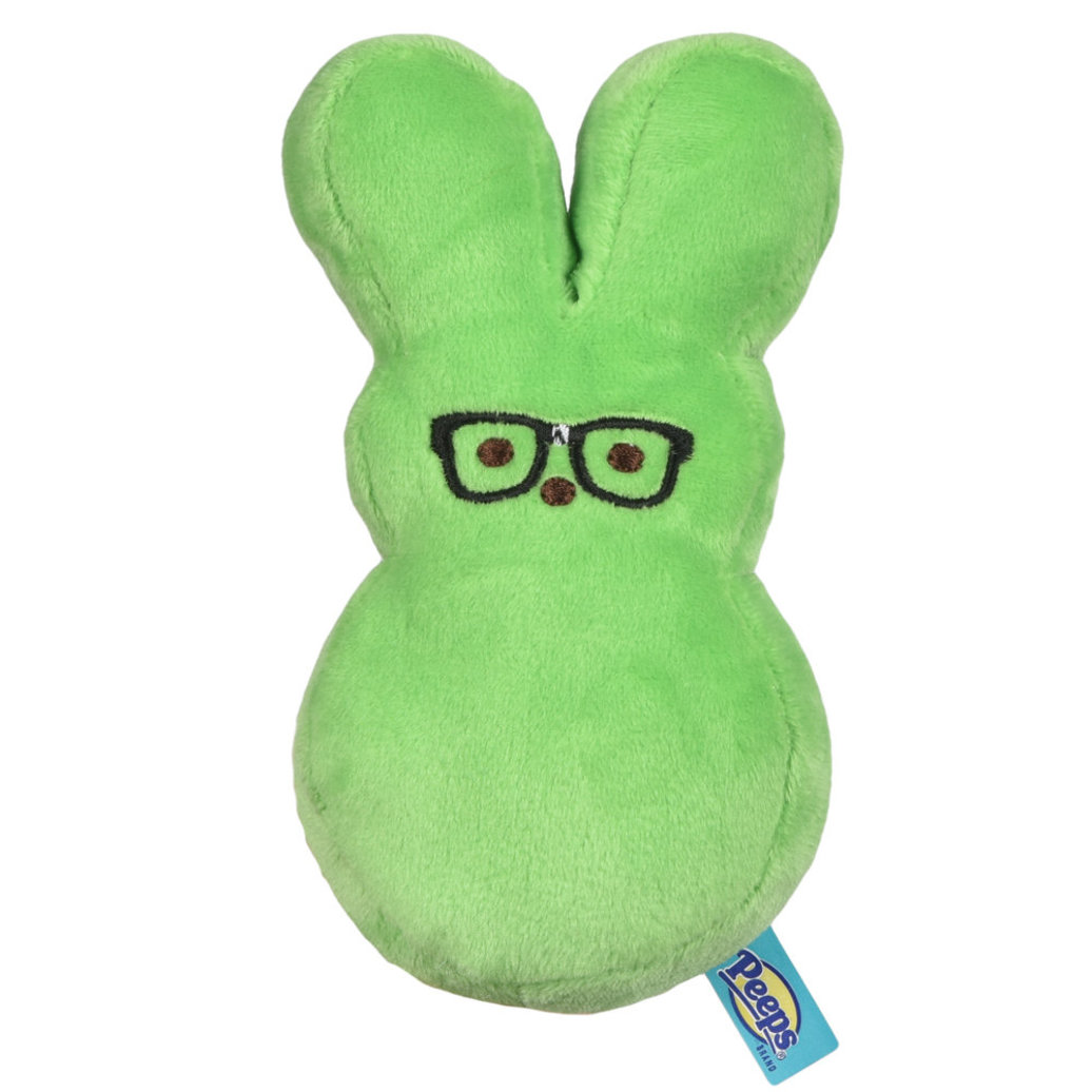 View larger image of Peeps, Dress Up Bunny - Nerd - Green