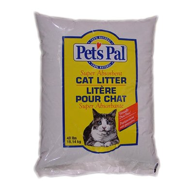 Pet's Pal Non-Clumping Cat Litter Bag - 40 lb