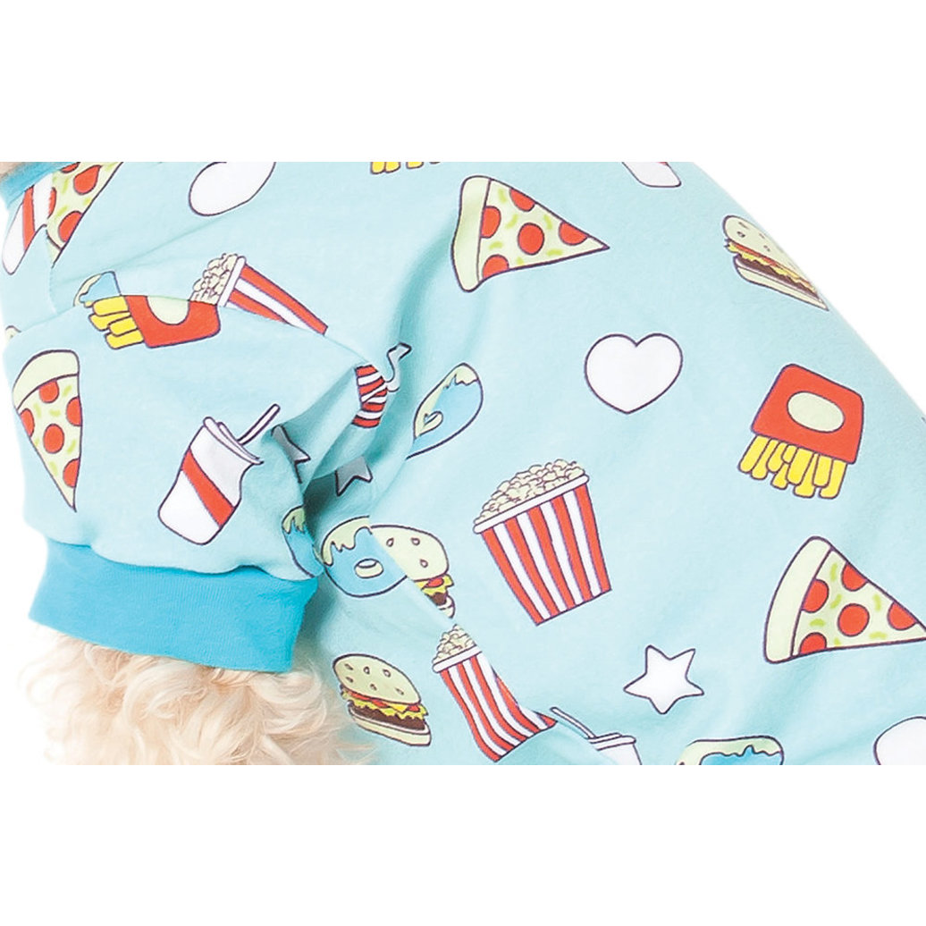 View larger image of AOP Food Pajamas - Blue