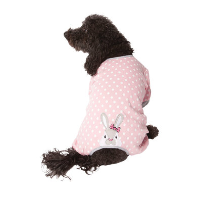 Applique Bunny Pajamas - Pink