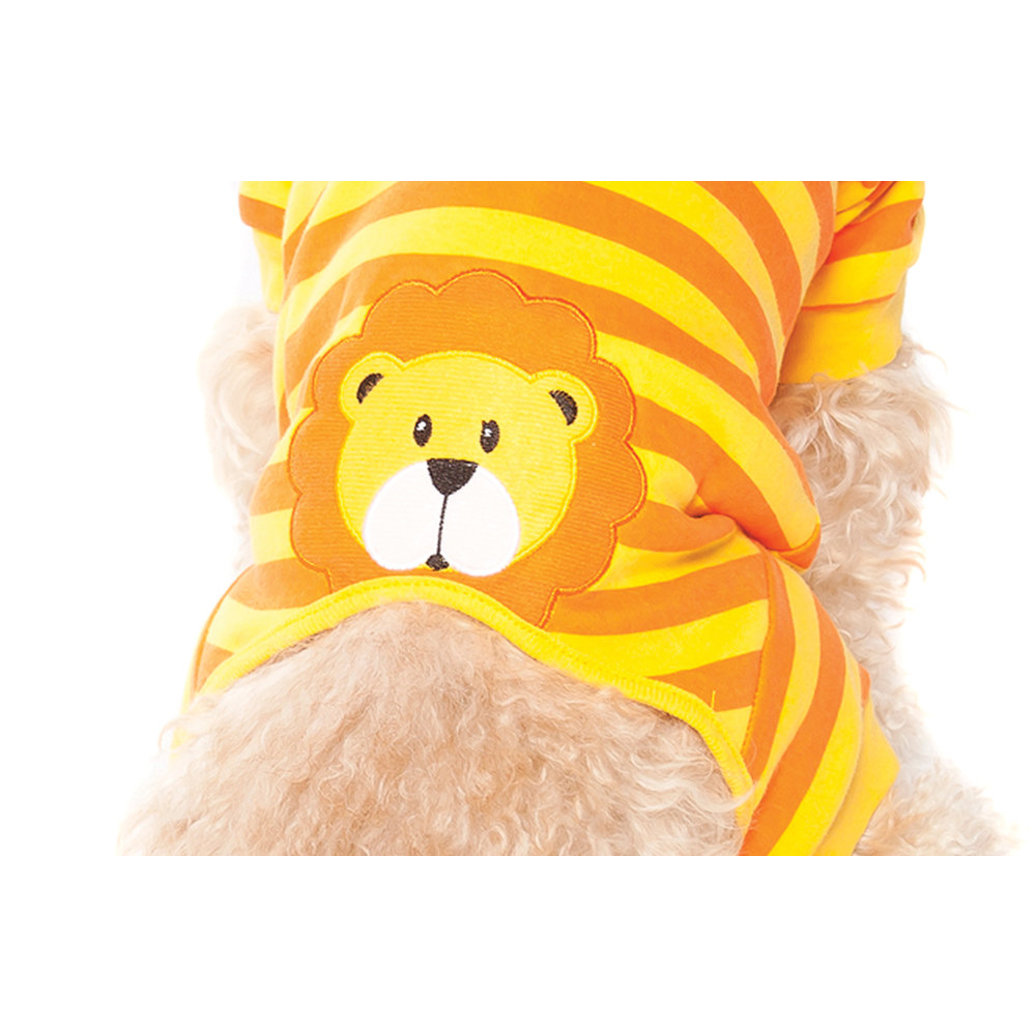 View larger image of Applique Lion Pajamas - Orange
