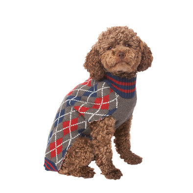 Pet Posse, Argyle Sweater - Blue