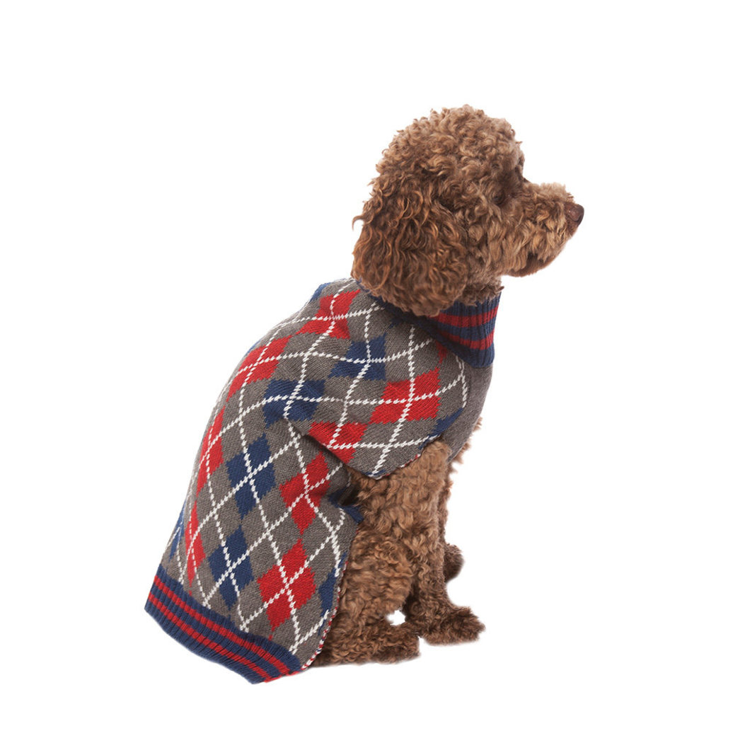 View larger image of Pet Posse, Argyle Sweater - Blue