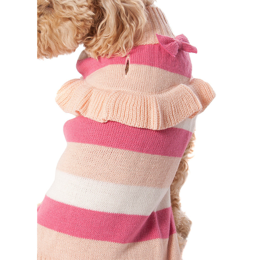 View larger image of Bow Sweater - Pink Stripe