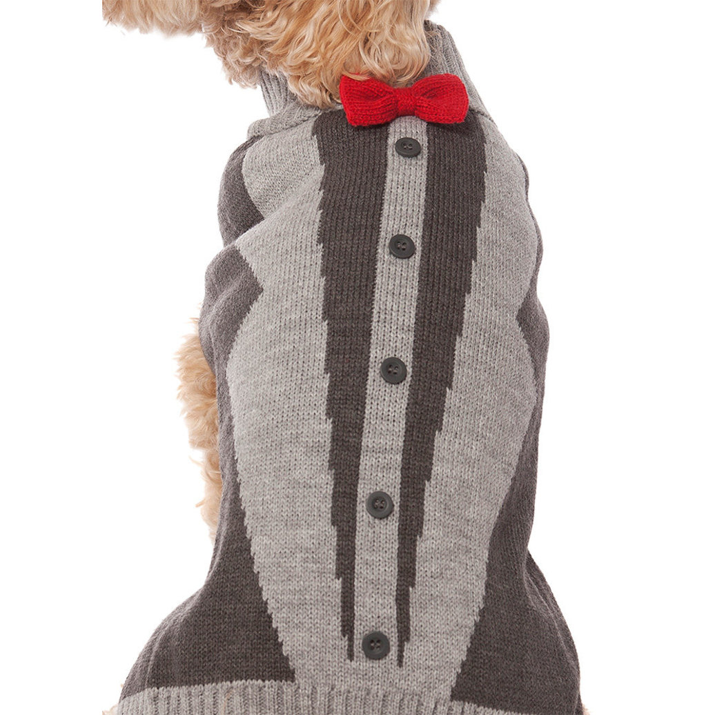 View larger image of Pet Posse, Bow Tie Sweater - Grey