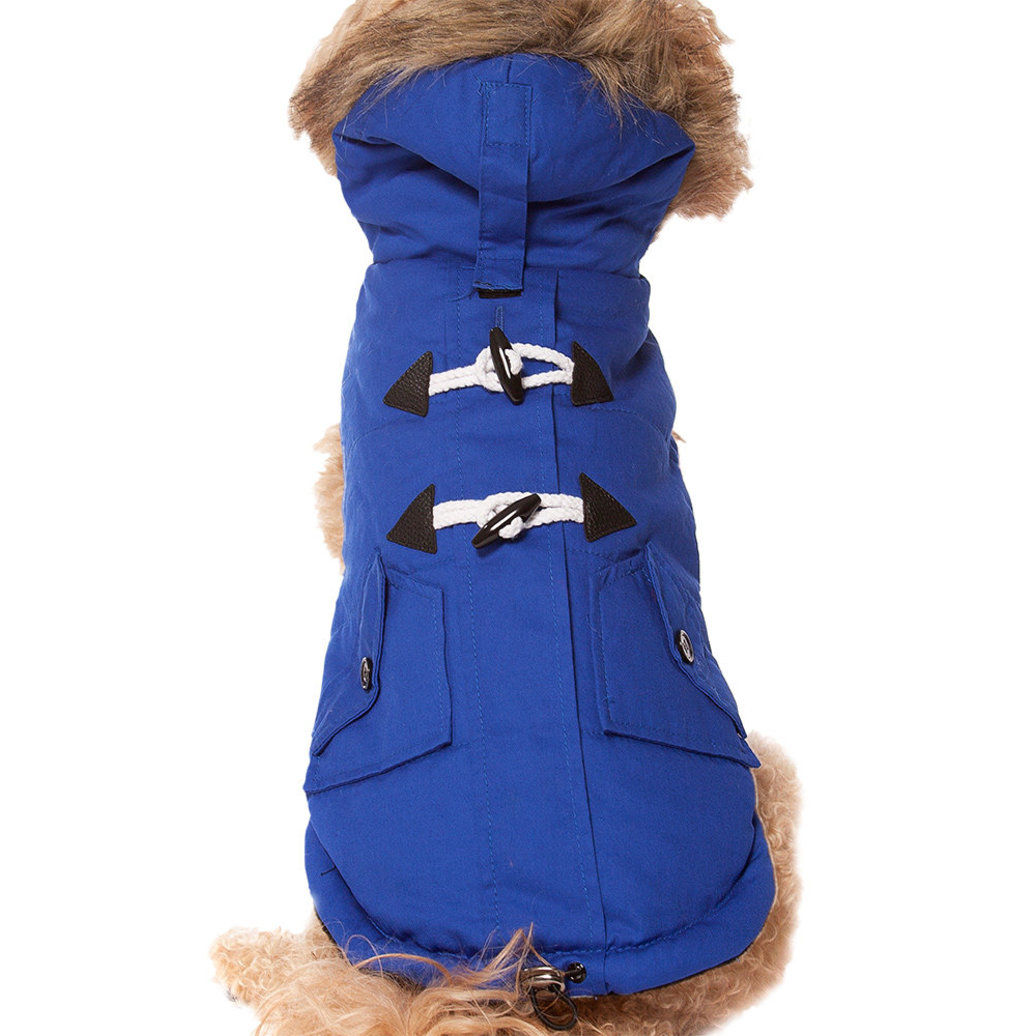 View larger image of Pet Posse, Canvas Parka - Blue
