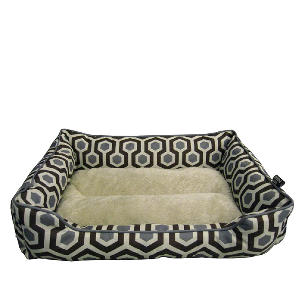 """View larger image of Cuddler w/ Sherpa Bed - Brown - 28x20"""""""