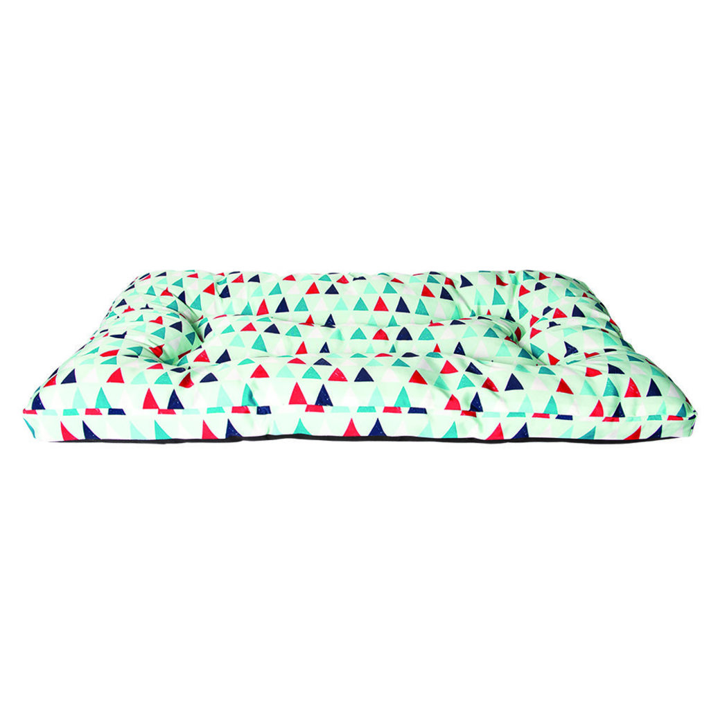 """View larger image of Embossed Bone Bed - All Over Triangle Print - Aqua - 36x27"""""""