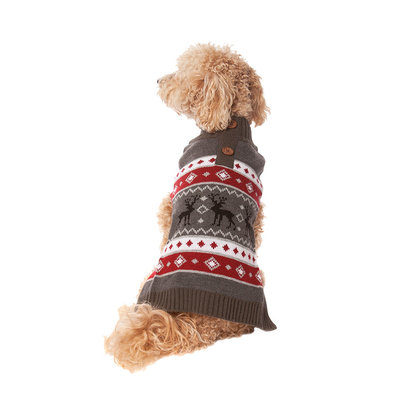 Pet Posse, Fair Isle Sweater Moose - Grey