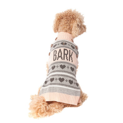 Pet Posse, Fair Isle Sweater - Pink Bark