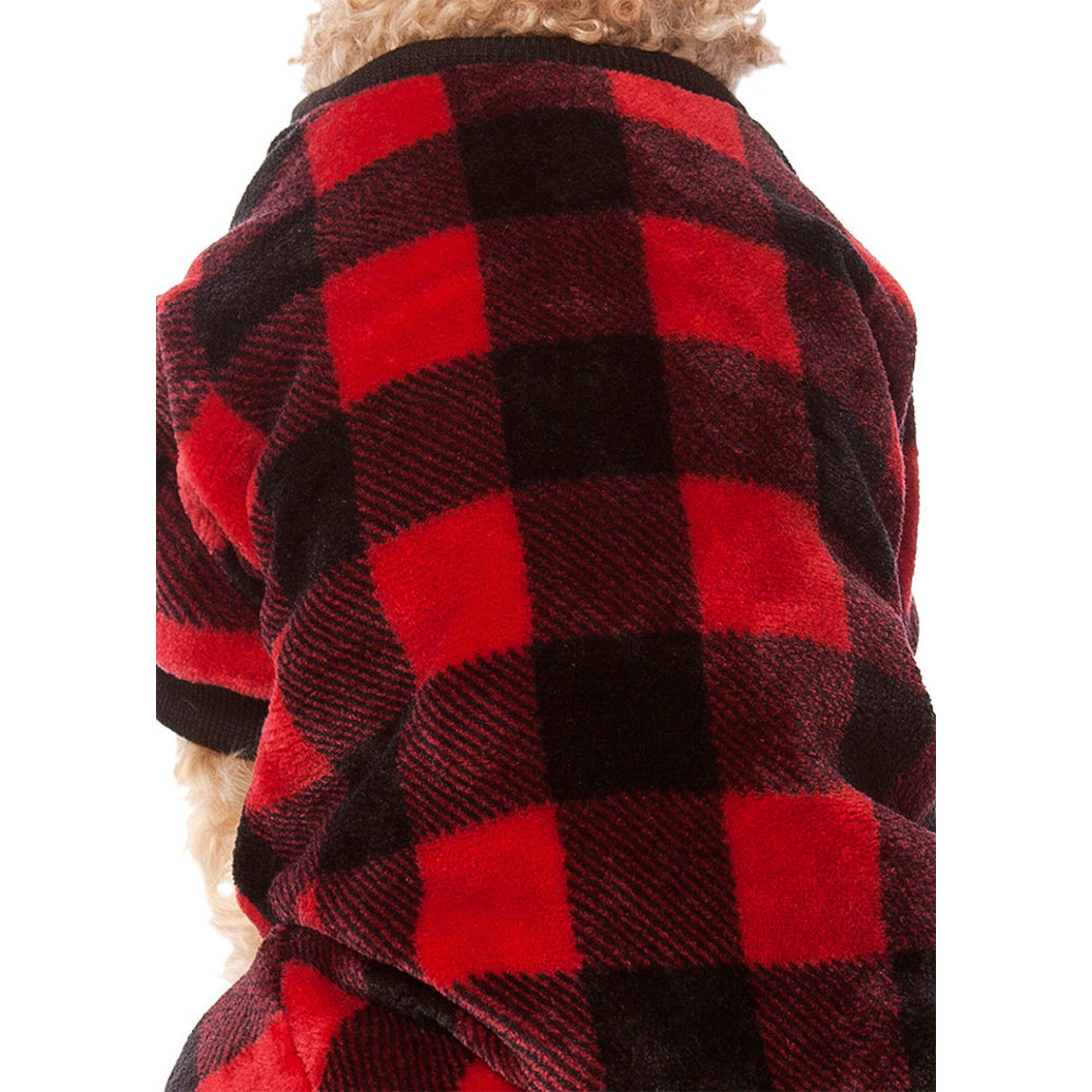 View larger image of Pet Posse, Fleece Pajamas - Buffalo Check