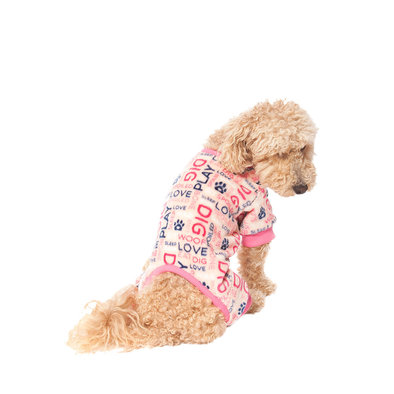 Pet Posse, Fleece Pajamas Word - Pink
