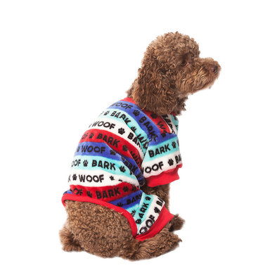 Pet Posse, Fleece Pajamas Work - Blue