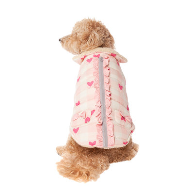 Pet Posse, Heart Vest - Pink Plaid
