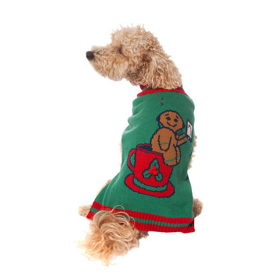 Pet Posse, Holiday Sweater - Green Gingerbread