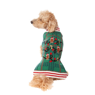Pet Posse, Holiday Sweater - Green Plaid