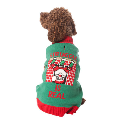 Pet Posse, Holiday Sweater - Green Struggle is Real