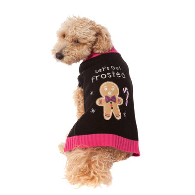 Pet Posse, Holiday Sweater - Pink Gingerbread Frosted
