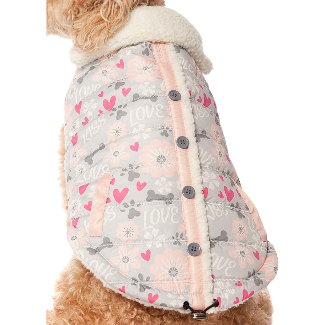 View larger image of Pet Posse, Love Vest w/ Sherpa Lining - Pink