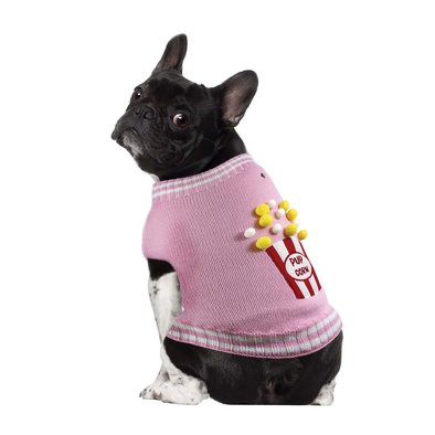 Mock Neck Sweater - Pup Corn - Pink