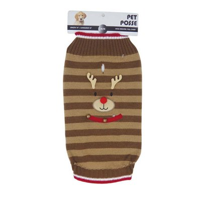 Mock Neck Sweater - Reindeer - Tan