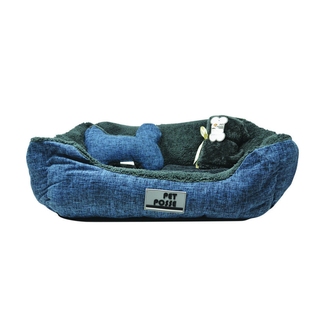 View larger image of Pillow and Blanket Bed - Navy - 3 pc