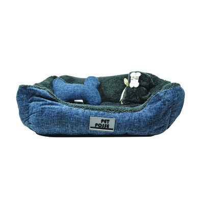 Pillow and Blanket Bed - Navy - 3 pc
