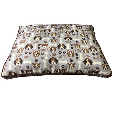 Pillow Bed - Dog Bone Canvas - Grey - 30x40""
