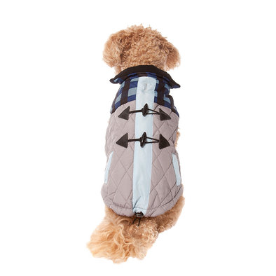 Pet Posse, Puffer Vest - Blue Plaid