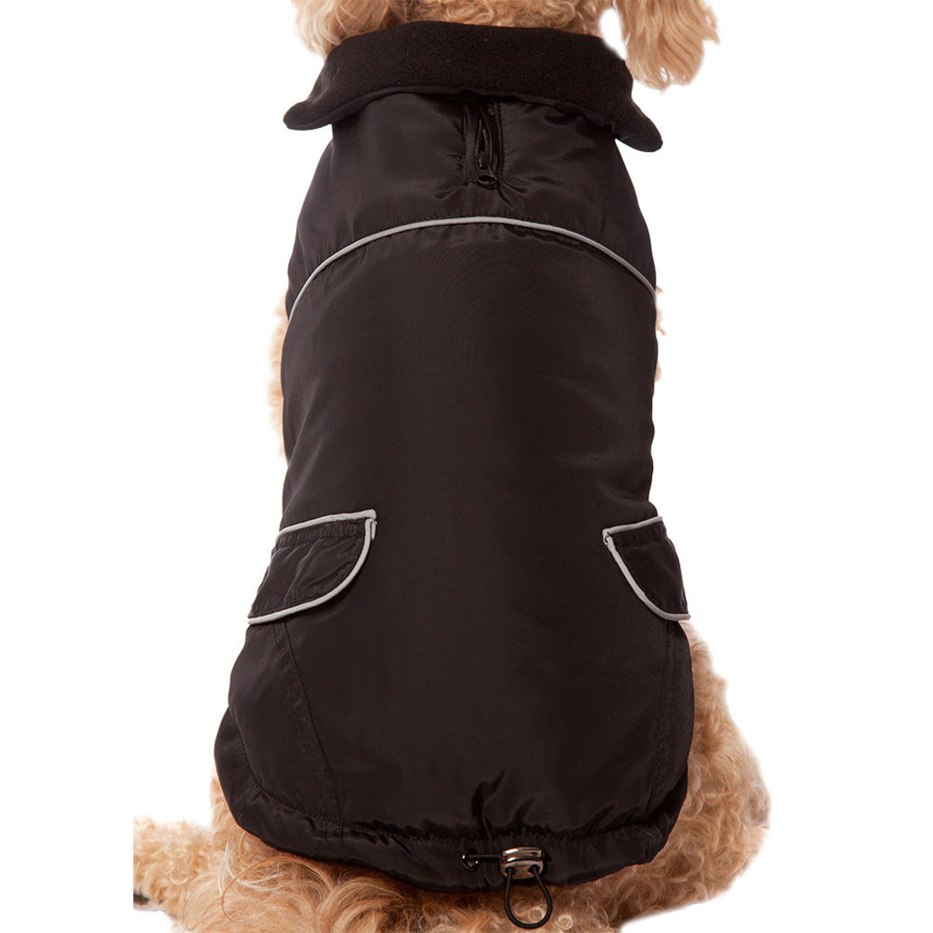 View larger image of Pet Posse, Puffer Vest w/ Reflective - Black