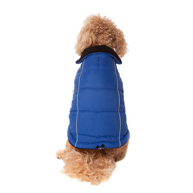 Pet Posse, Puffer Vest w/ Reflective - Blue
