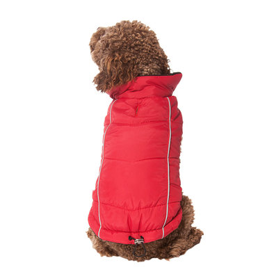 Pet Posse, Puffer Vest w/ Reflective - Red