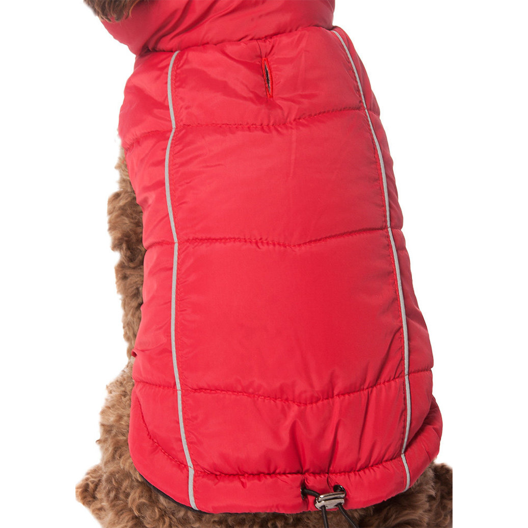 View larger image of Pet Posse, Puffer Vest w/ Reflective - Red