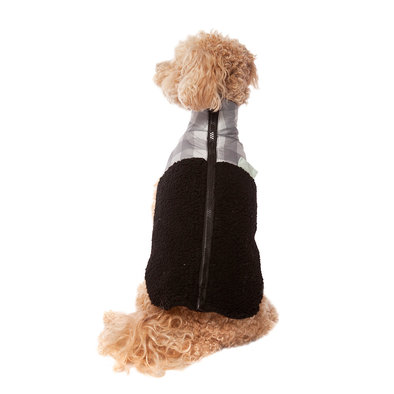 Pet Posse, Sherpa Vest - Black Plaid